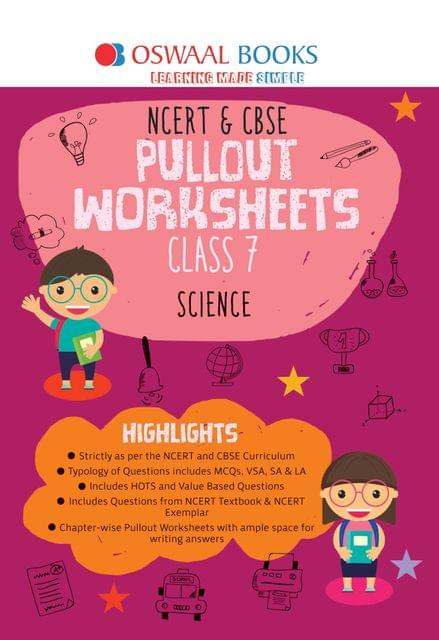 Oswaal NCERT & CBSE Pullout Worksheets Class 7 Science Book (For March 2020 Exam)