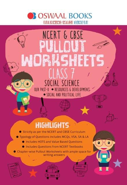 Oswaal NCERT & CBSE Pullout Worksheets Class 7 Social Science Book (For March 2020 Exam)
