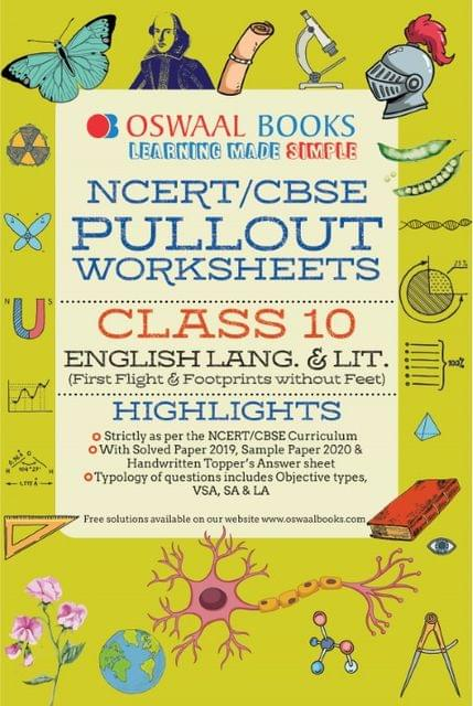 Oswaal NCERT & CBSE Pullout Worksheets Class 10 English Language and Literature Book (For March 2020 Exam)