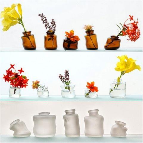 Mini Wonky Vases - Set of 5