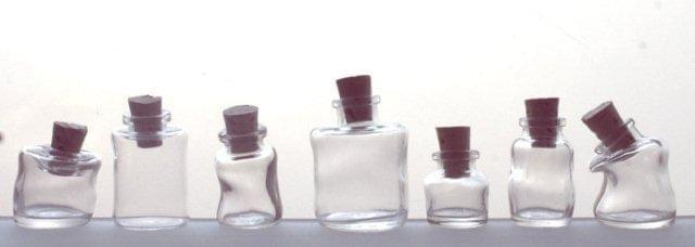 Mini Wonky Bottle with Cork - Set of 7