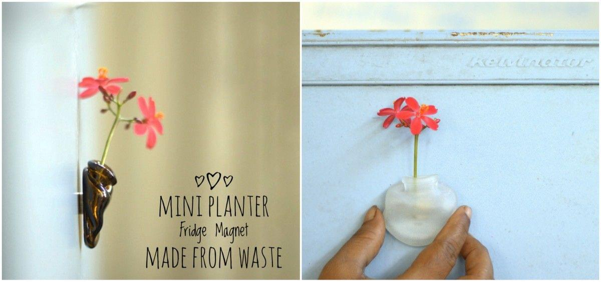 Mini planter Fridge Magnet