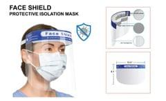 FACE SHIELD  | Full Face Cover - Anti Droplet 1 piece | Protective Isolation Mask with Elastic Band & Cushion | MHFS_11