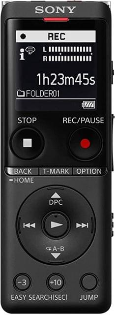 SONY   Digital Voice Recorder With High Sensitivity   Memory 4GB   48 g   Black   ICD-UX570F