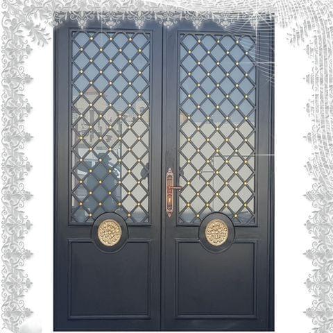 GET DECORATIVE STEEL ENTRANCE DOORS IN QATAR, MODEL JDD401