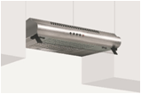 GLEM GAS   STAINLESS STEEL TRADITIONAL COOKER HOOD   90 CM   GHC95IX