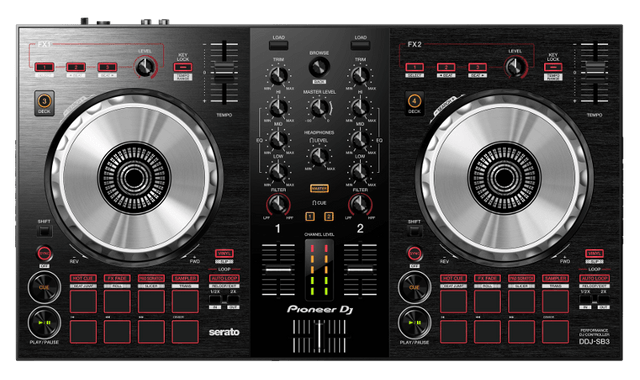 PIONEER | 2-channel DJ controller for Serato DJ Lite Black | DDJ-SB3