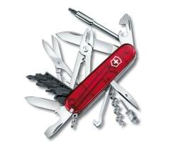 Victorinox | Swiss Army Knives | CyberTool M Knives Red Transparent| 4 Inch| 1.7725.T