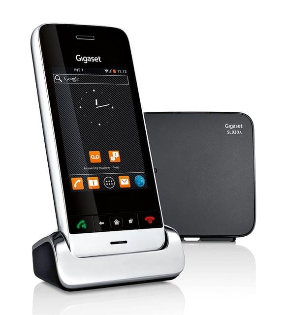 GIGASET | Cordless Android Land line Phone with Touch Screen Display | Black | S30852-H2311-L101