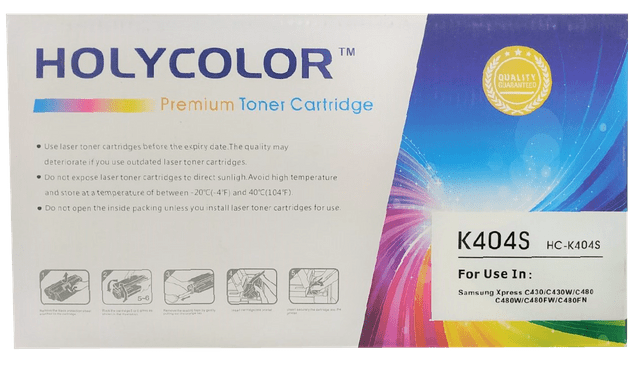 HOLYCOLOR | Toner Cartridge | 404S | HC-404S | Black,Cyan,Magenta & Yellow