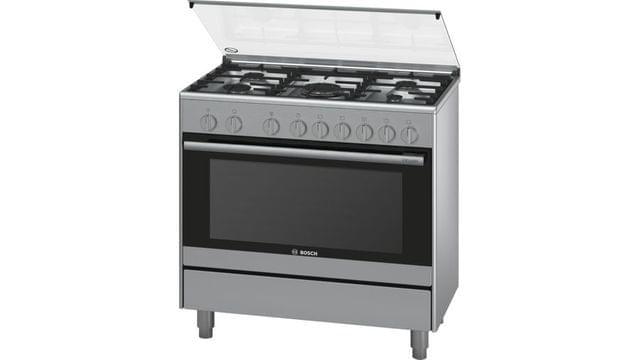 BOSCH | Serie 2 Gas Range Cooker | 73 Kg | 90 cm | Stainless Steel l HSG736357M