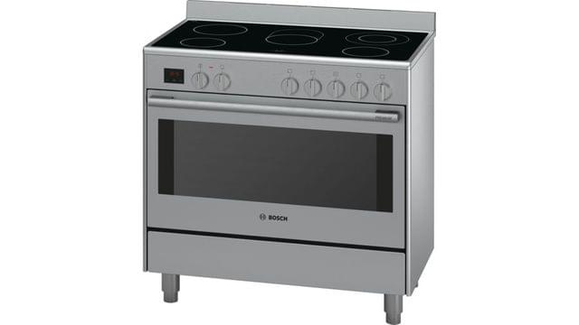 BOSCH   Serie 8 Electric Range Cooker   70 Kg   90 cm   Stainless Steel l HCB738357M