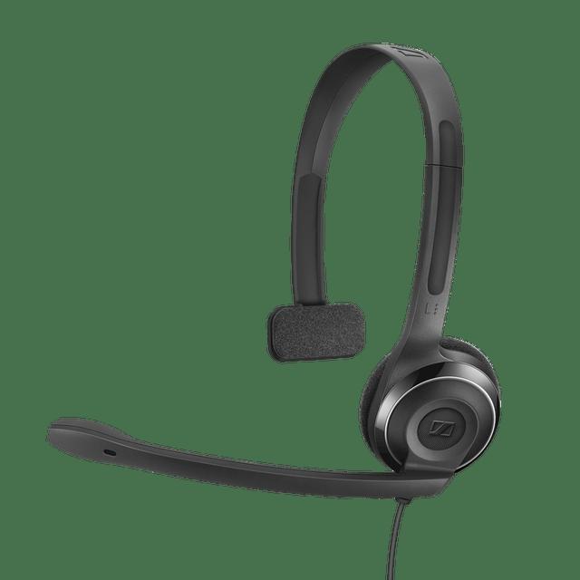 SENNHEISER   PC 7 USB Mono Headset   2000 mm   Black   62 g   504196