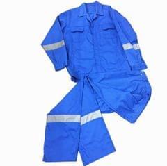 Work Wear   Reflective   Washable   210 GSM   Pure Cotton   Blue