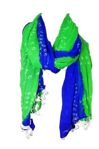 DUPATTA GREEN AND BLUE