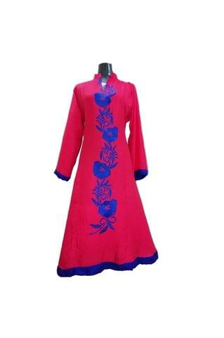 LONG SHIRT GOWN TYPE RED EMBROIDERY