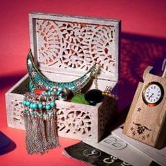 Handmade marble jewellery box/jail work jewellery box/antique jewellery box