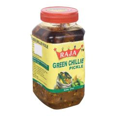 Spicy Green chilli pickle/ home made pickle/delicious pickle/healthy pickle/less fat pickle (500g)