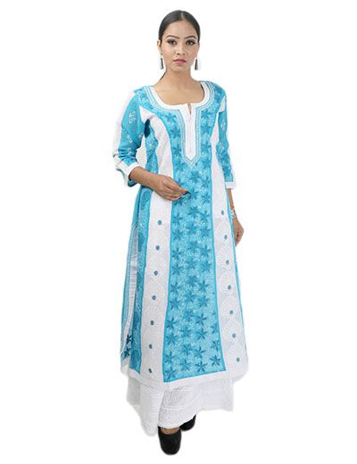 handmade seller login rohia by chhangamal s embroidered sky blue 5287