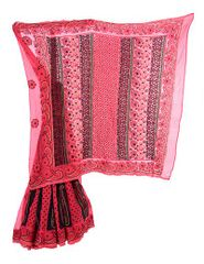 Rohia von Chhangamal Cotrast Border mit Designer Palla Lehnga Style Chikan Saree
