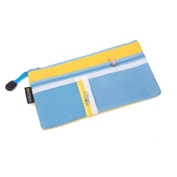 Worldone My Zipper Pouch DC 252 Blue And Yellow