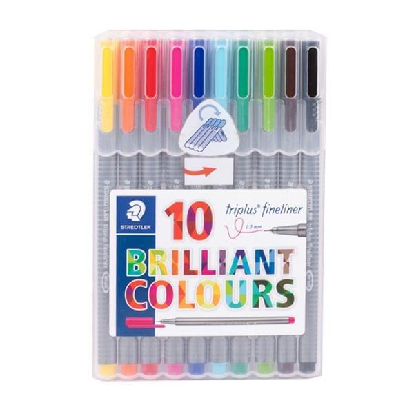 Staedtler Triplus Fineliner 10 Brilliant Colours Pen
