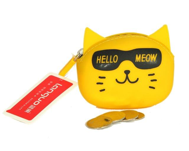 Ink The Town Yellow Cat Silicon Coin Purse