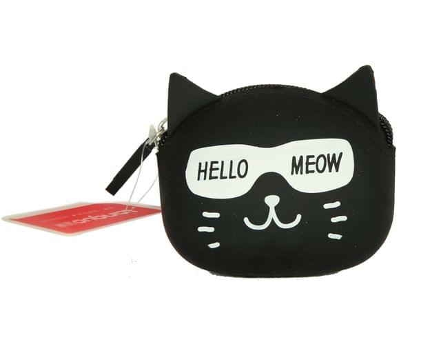 Ink The Town Black Cat Silicon coin Purse