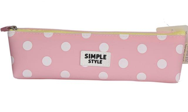 Ink The Town Pink Polka Silicon Pencil Case