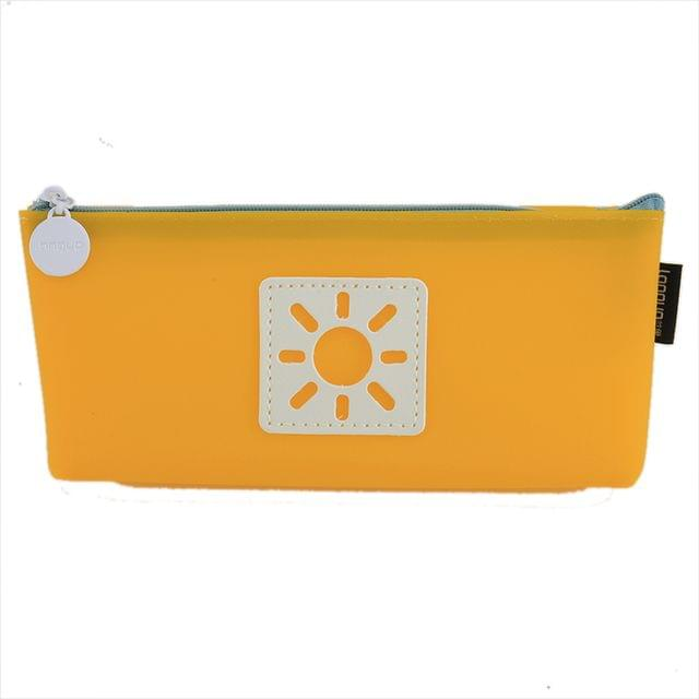 Ink The Town Yellow Jelly Pencil Case