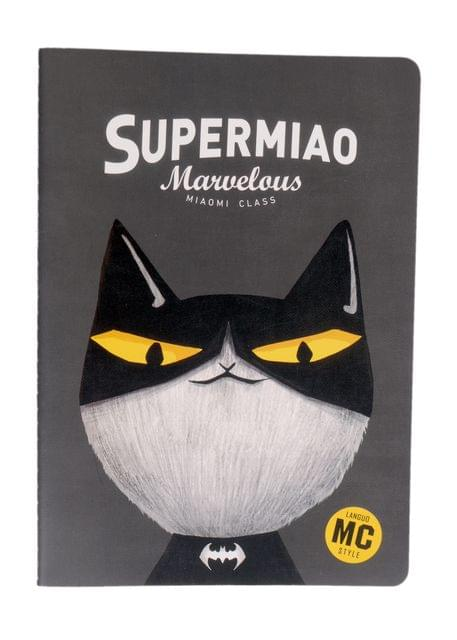 Ink The Town Black B5 Super Meow Notebook