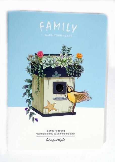 Ink The Town Blue B5 Family Notebook