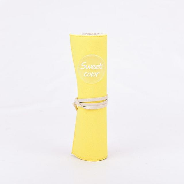 Ink The Town Yellow Sweet Colour Roller Pencil Pouch