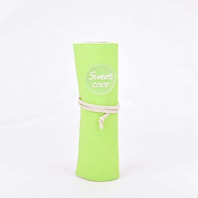Ink The Town Green Sweet Roller Pencil Pouch
