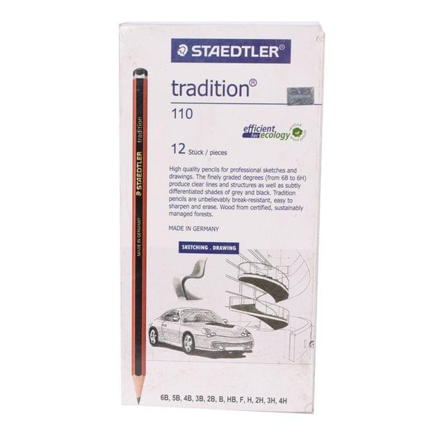 Staedtler Tradition 110 Sketching And Drawing Pencil  Set Pack Of 12