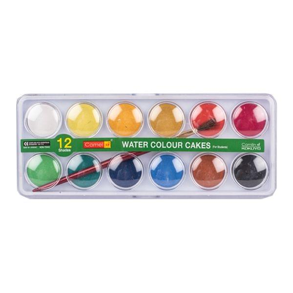 Camel Water  Colour Cakes Box 12 Shades
