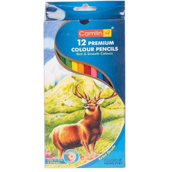 Camlin Premium Colour Pencil 12 Shades