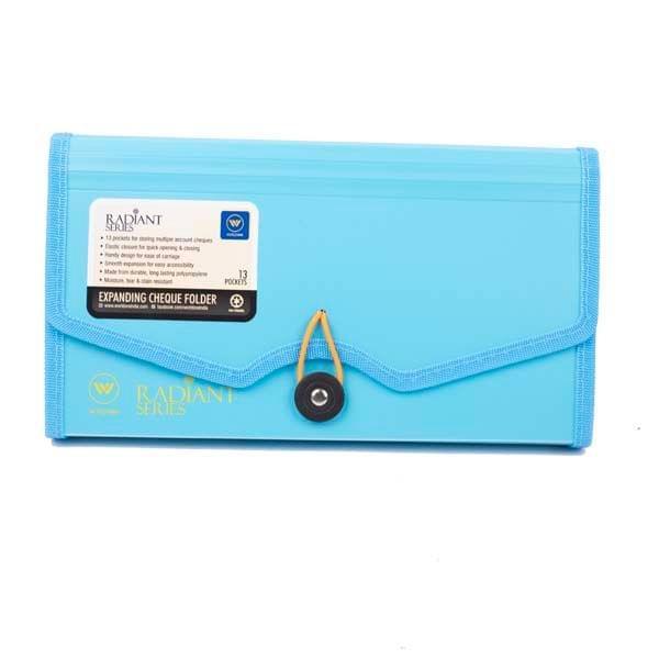 Worldone Expanding Cheque Folder Blue (FL 03)