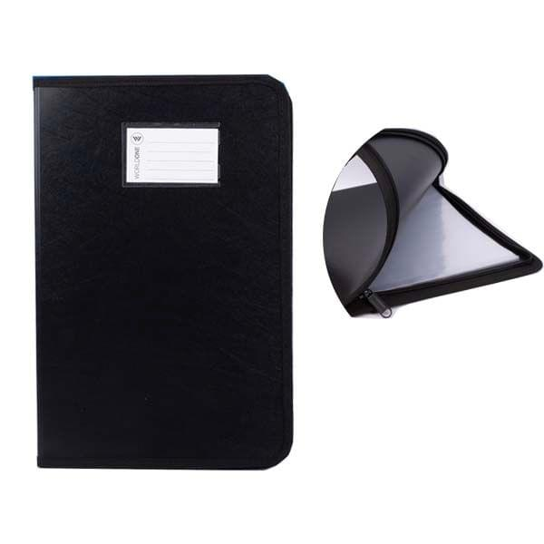 Worldone Zip Black Cover File (DB 515)