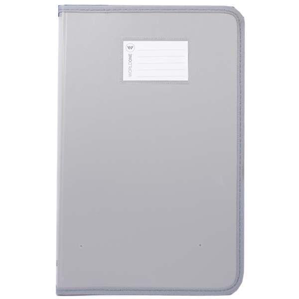 Worldone  Zip Gray Cover File (DB 515F)
