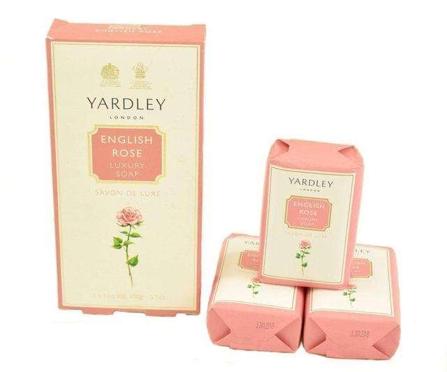 YARDLEY LONDON - ENGLISH ROSE LUXURY SOAP - 300 Gms - Pack of 3