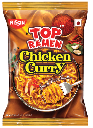 TOP RAMEN - CHICKEN CURRY NOODLES - 70 Gms