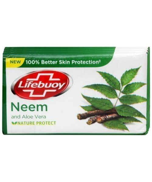LIFEBUOY - NEEM & ALOE VERA BATHING BAR - 125 Gms