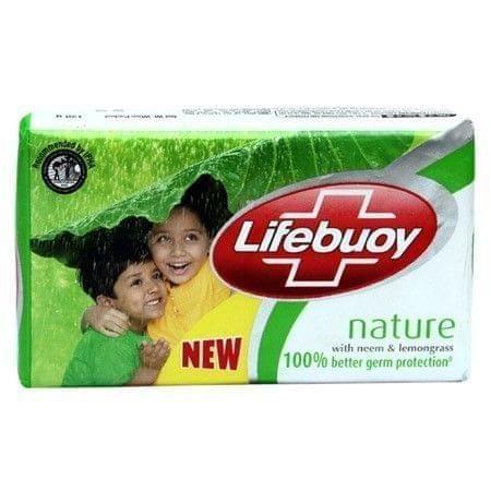LIFEBUOY - NATURE WITH NEEM & LEMONGRASS BATHING BAR - 125 Gms