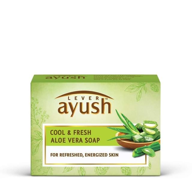 LEVER AYUSH - COOL & FRESH ALOEVERA SOAP BAR - 100 Gms