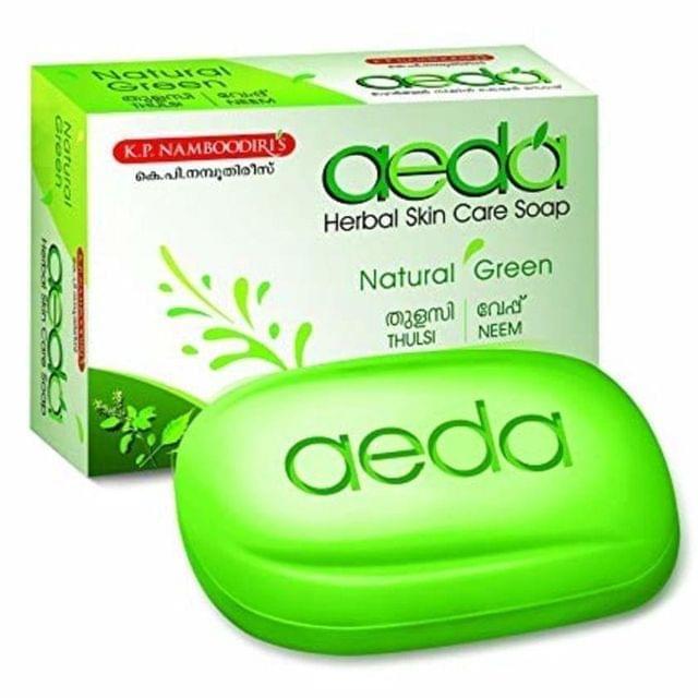 AEDA - NATURAL GREEN - HERBAL SKIN CARE SOAP - 75 Gms