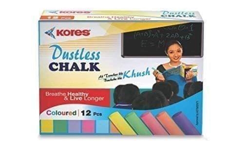 KORES - DUSTLESS CHALK - COLOURED - 12 PIECE