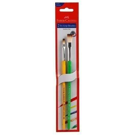 FABER - CASTELL - 2 TRI GRIP BRUSHES