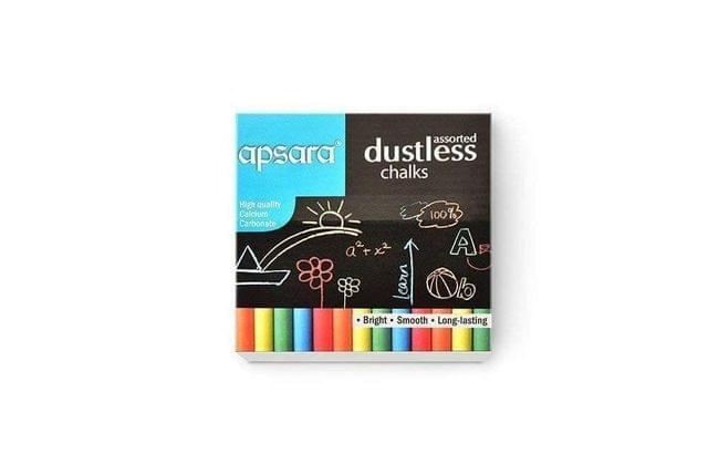APSARA - COLOR CHALK - DUSTLESS - 10 PIECE