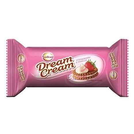 SUNFEAST - BOUNCE DREAM CREAM - STRAWBERRY VANILLA BISCUIT - 120 Gms